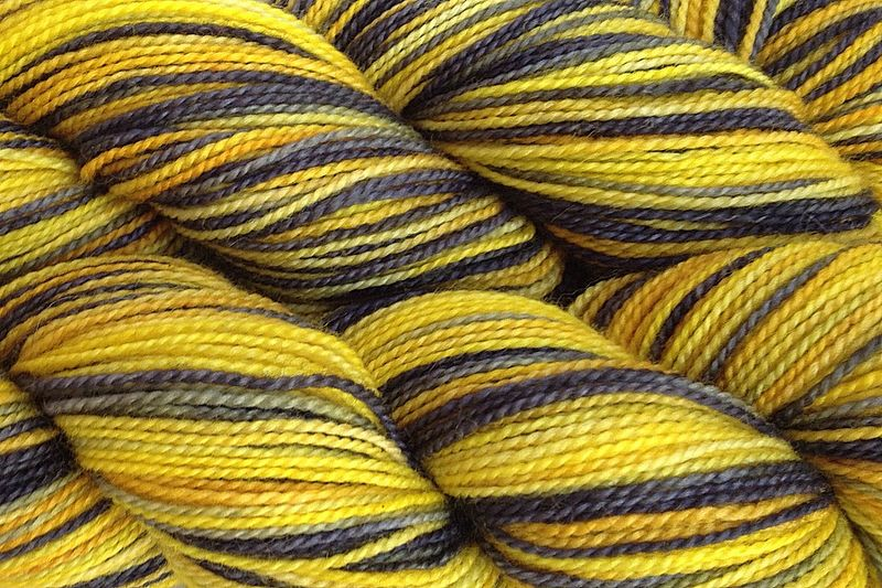 Taxi Cab Hand Dyed Yarn Fingering Weight - product images  of