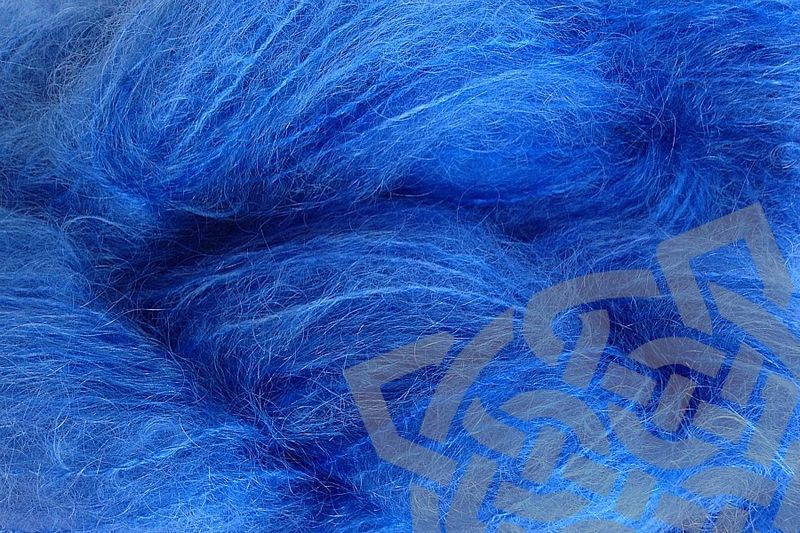 Cowboy Blue Mohair Yarn Fingering Weight - product images  of