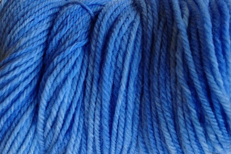 Cowboy Blue Hand Dyed Merino Wool Yarn DK / Sport Wt - product images  of