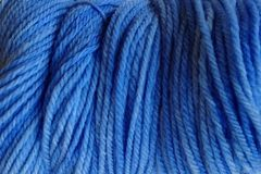 Cowboy Blue Hand Dyed Merino Wool Yarn Worsted Wt - product images  of