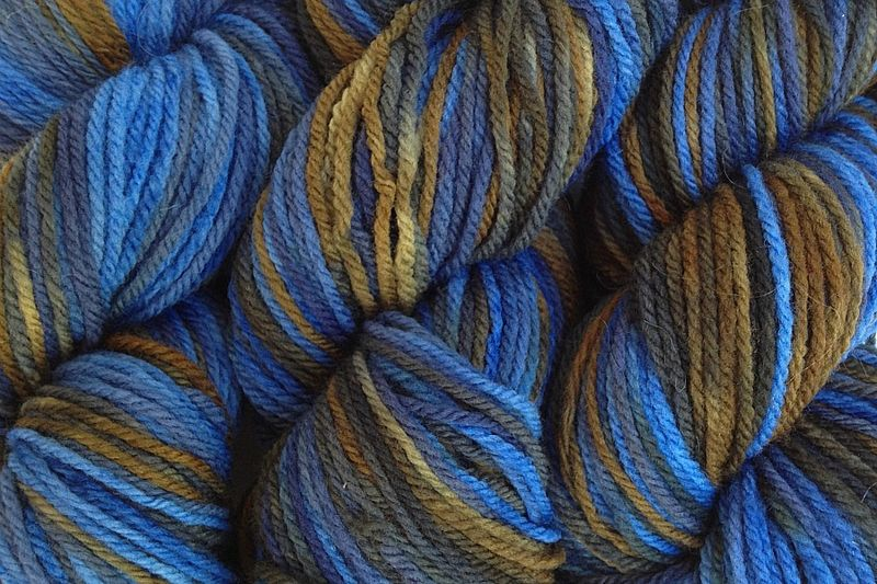 Indigo Cowboy Hand Dyed Merino Wool Yarn DK / Sport Wt - product images  of