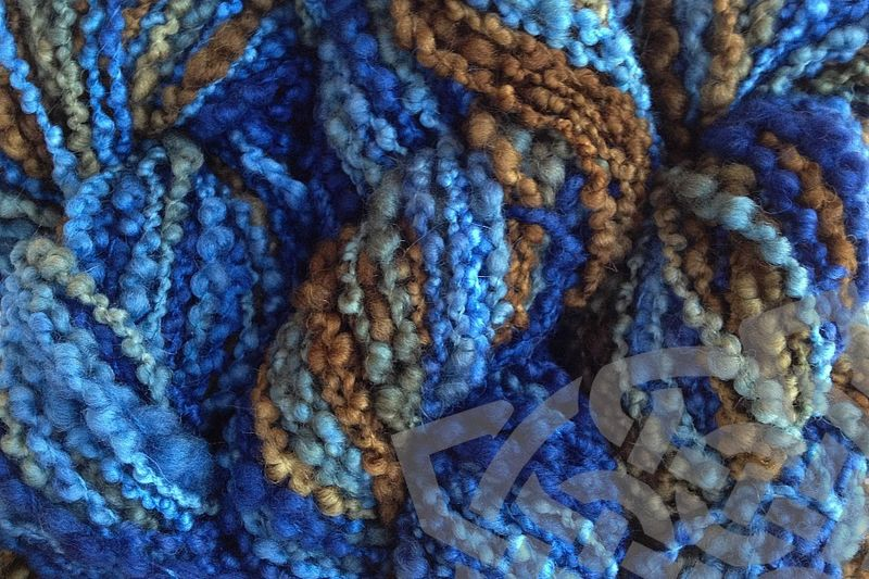 Indigo Cowboy Hand Dyed Bumpy Merino Yarn Bulky Weight - product images  of
