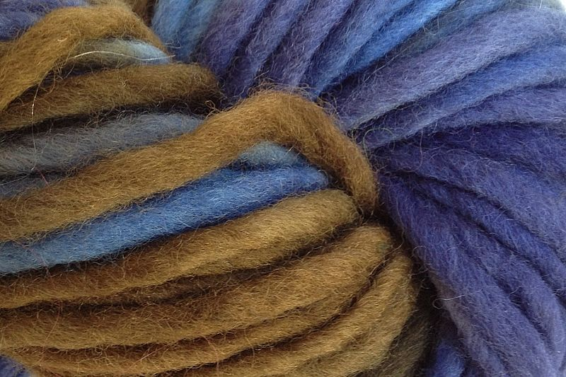 Indigo Cowboy Hand Dyed Wool Single Ply Yarn - product images  of