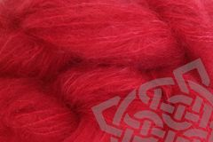 Strawberry,Red,4oz,(116g),Mohair,Yarn,Fingering,Weight,Mohair Yarn, Fingering Weight Yarn, Waldorf Doll Hair, Strawberry Red, Primary Red, Christmas Red, Strawberry Fields, 4 ounce, 116 grams, Large Skein Mohair, Hand Dyed, eweandmeyarns.com