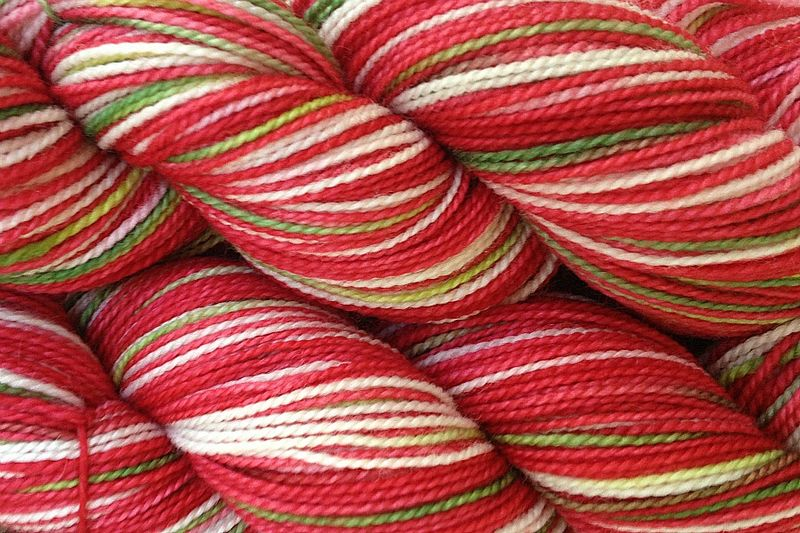 Strawberry Fields Hand Dyed Wool Yarn Fingering Weight - product images  of