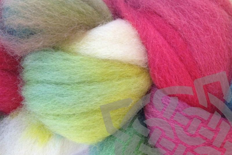Strawberry Fields Hand Dyed Wool Roving - product images  of