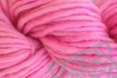 Too,Pink,Hand,Dyed,Wool,Single,Ply,Yarn,Bulky,Quick Knit Yarn, Hand Dyed, Merino Wool Yarn, Single Ply Bulky Yarn, Pencil Roving, Too Pink, #5 Bulky Weight, Womans Movement Pink, eweandmeyarns.com