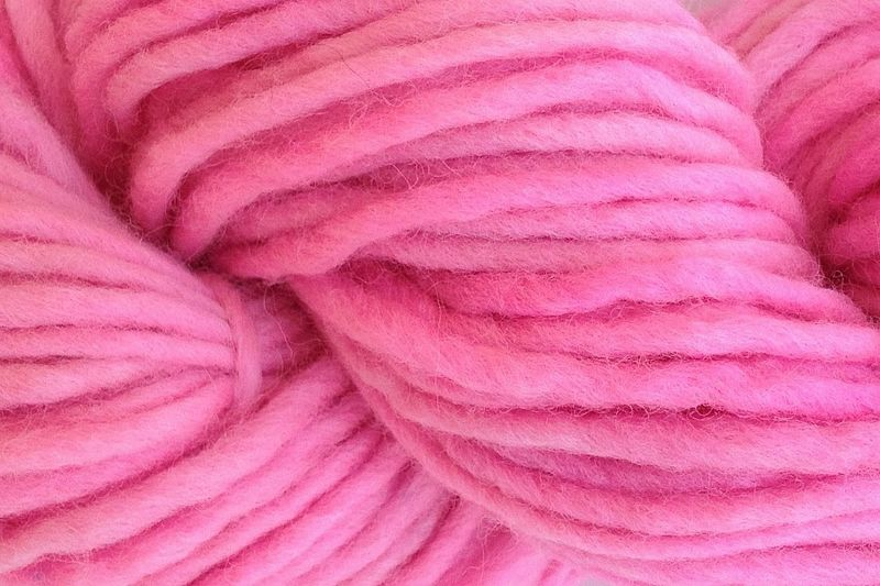 Too Pink Hand Dyed Wool Single Ply Yarn Bulky - product images  of