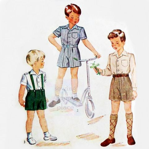 Toddler,Boys,Shirt,Shorts,Suspenders,1940s,Pattern.,Dressy,Heirloom,Portrait.,Simplicity 1953, little boys patterns, easter outfit, sewinghappyplace