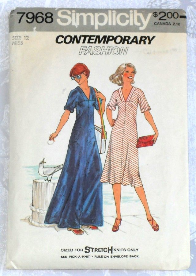Maxi Dress Cutting Pattern Maxi Dress 1970s Pattern