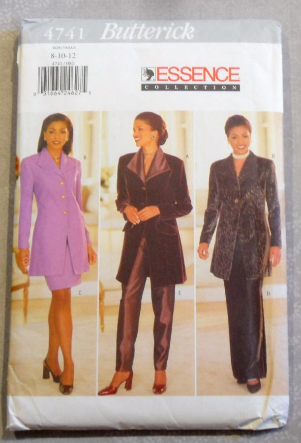 Dressy Suit Separates 1990s Pattern. Special Occasion. Slim Skirt. Cigarette Pant. - product images  of