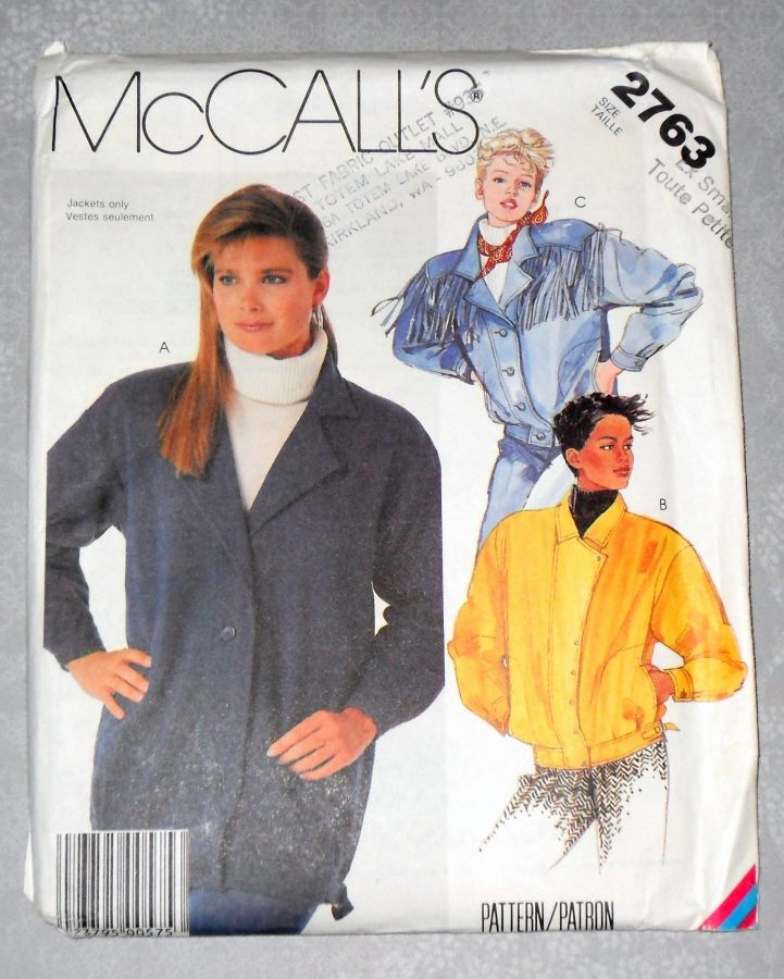 Jackets for Denim or Fleece 1980s Pattern. Moto, Biker, Western Fringe - product images  of