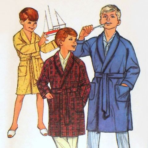 Boys,Robe,1960s,Pattern,Wrap,Close,Raglan,Sleeves,Shawl,Collar,Simplicity,6767,sewinghappyplace, Sewing Pattern, Vintage, 60s, Boys, Robe, Wrap Close, Raglan Sleeves, Simplicity 6767