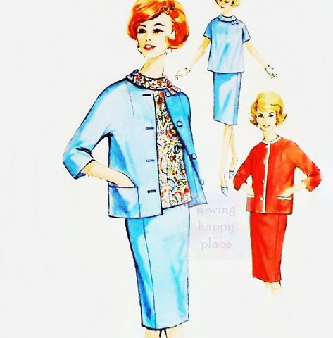 Maternity,Jacket,Top,Skirt,60s,Pattern,Cropped,Kimono,Mad,Men,Simplicity,4642,sewinghappyplace, Sewing Pattern, Vintage