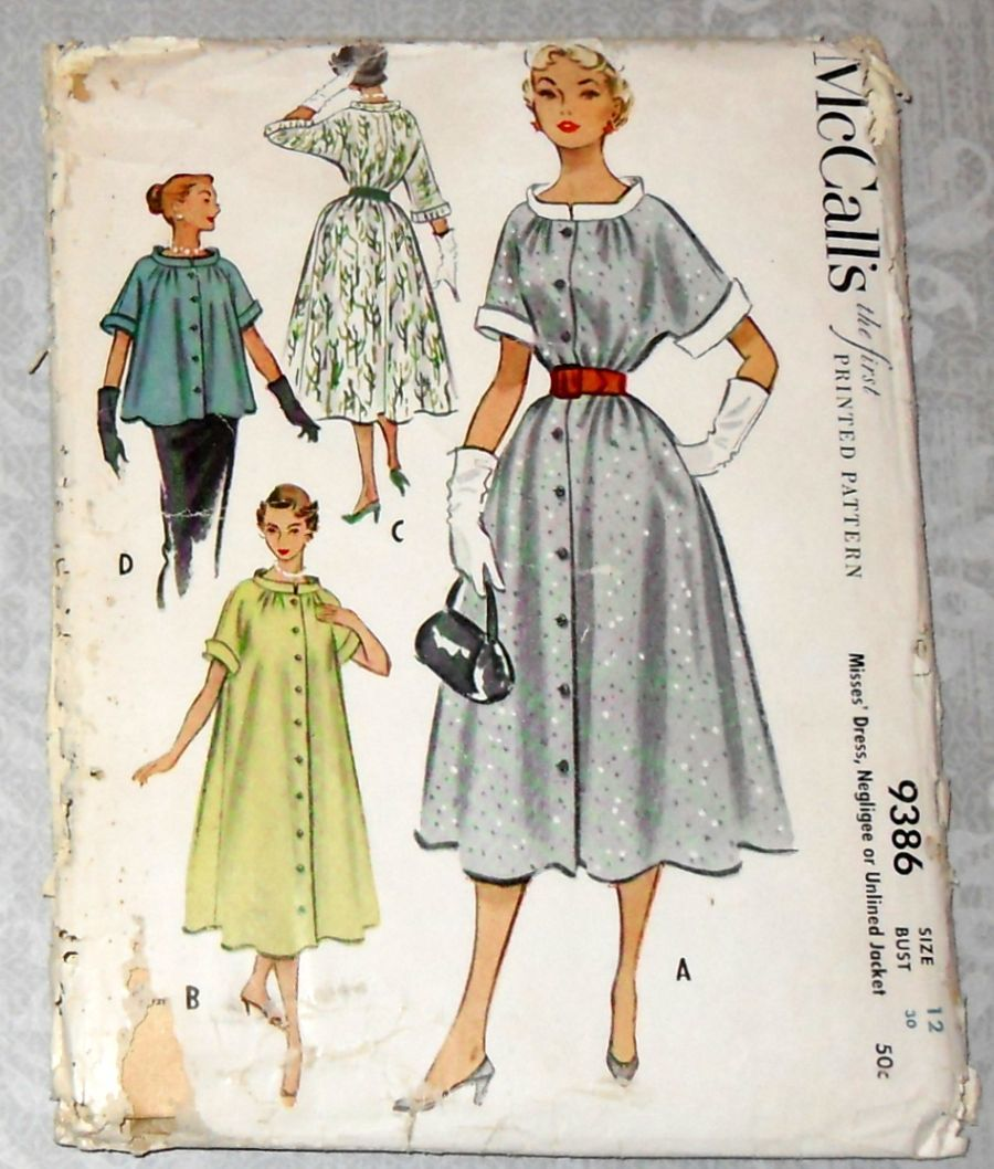 Swing duster dress or jacket 1950s pattern maternity or wasp waist product images of swing duster dress or jacket 1950s pattern maternity or wasp waist product images of ombrellifo Choice Image
