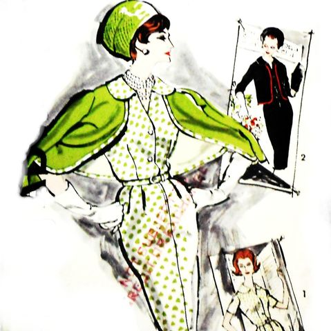 Slim,Sheath,Dress,60s,Pattern.,Cropped,Cardigan,Jacket,w,Bias,Binding.,sewinghappyplace, Sewing Pattern, Vintage