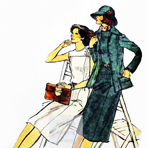 Jacket,Dress,Preppy,70s,Pattern.,Princess,Lines/,Tailored,Safari,Dtls,sewinghappyplace, Sewing Pattern, Vintage
