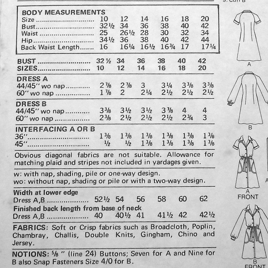 Body Skimming Shirtdress 1970s Pattern. Button Front. Belted. Slimmer - product images  of