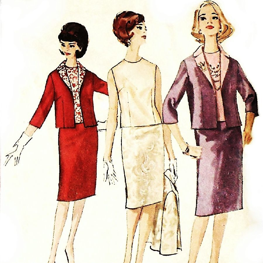 Dinner Evening Suit and Blouse. 1960s Pattern. Proportioned Sizing. - product images  of