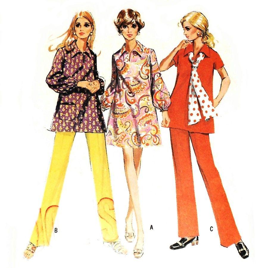 Mod maternity dress or top 1960s pattern pants w stretch front mod maternity dress or top 1960s pattern pants w stretch front panel ombrellifo Gallery