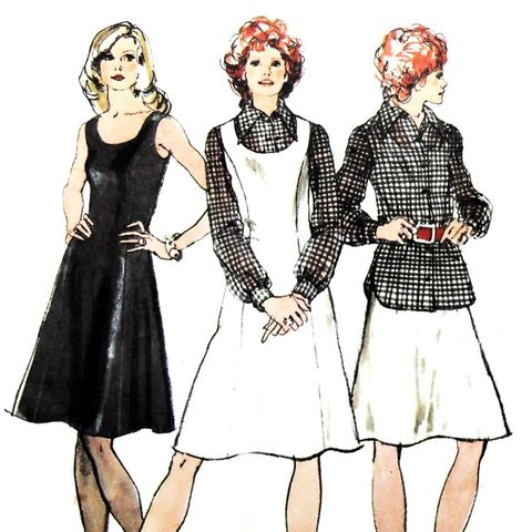 Dress,Jumper,Blouse,1970s,Pattern.,Fit,Flare.,Princess,Lines.,sewinghappyplace, Sewing Pattern, Vintage