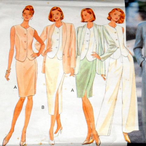 Suit,and,Blouse,1990s,Pattern.,JH,Collectibles,Designer.,Relaxed,Soft,Tailoring,sewinghappyplace, Sewing Pattern, Vintage