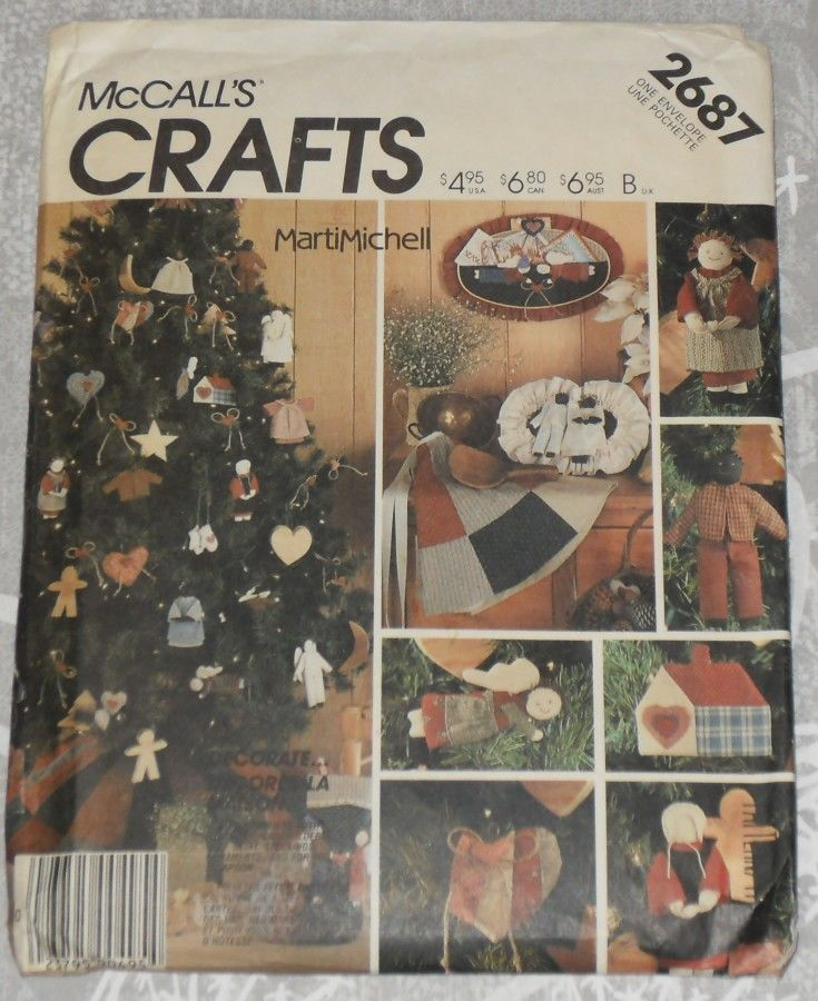 Homespun Folk Art Christmas Dec Pattern Marti Mitchell McCalls 2687. Primitive.  - product images  of