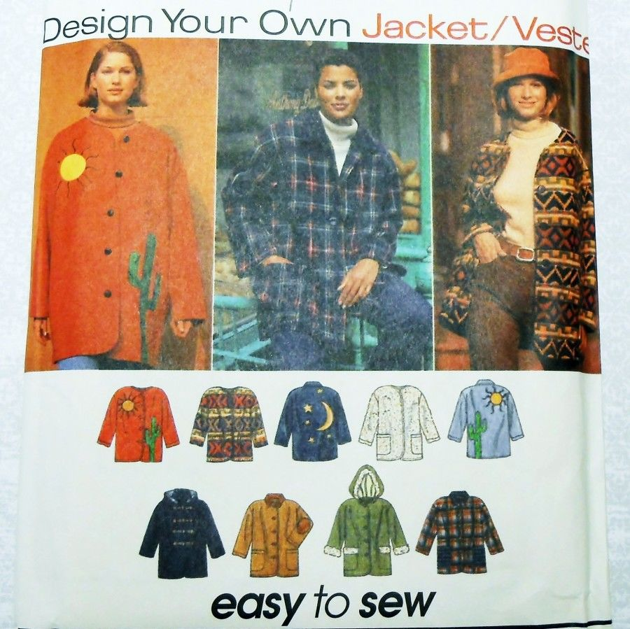 Misses Relaxed Fit Coat Pattern. Fake Fur. Fleece. Wool. Embellish Ideas - product images  of