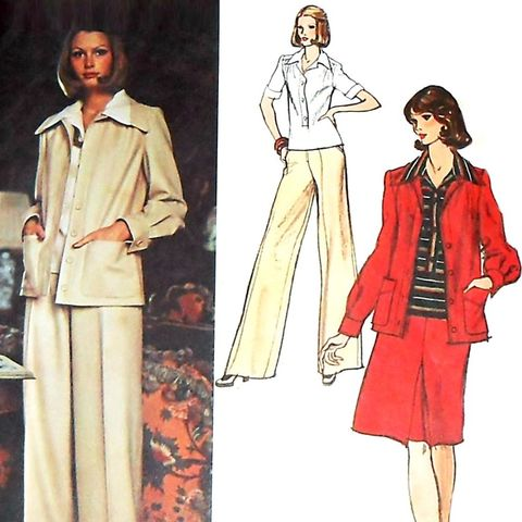 Designer,Dior,Wardrobe,1970s,Pattern.,Suit,Jacket,Pants.,sewinghappyplace, Sewing Pattern, Vintage
