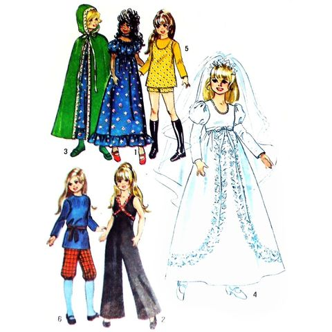 Wedding,Jumpsuit,Cape,Hippy,Dress,Hot,Pants.1970s,Pattern,Doll,Chrissy,sewinghappyplace, Sewing Pattern, Vintage