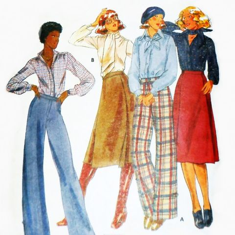 Designer,Separates,Jones,New,York,1970s,Pattern.,Wide,Leg,Trouser,Pant,sewinghappyplace, Sewing Pattern, Vintage