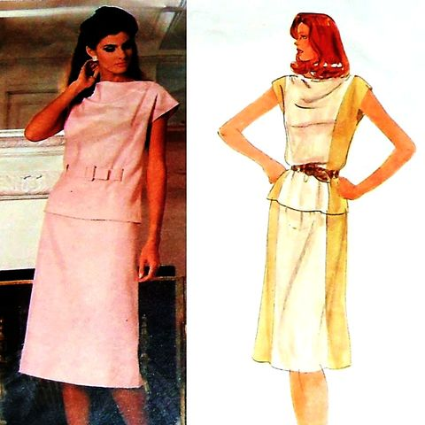 1970s,Pattern.,Designer,Edith,Head.,Top,Skirt.,Color,Block.,Contrast,sewinghappyplace, Sewing Pattern, Vintage