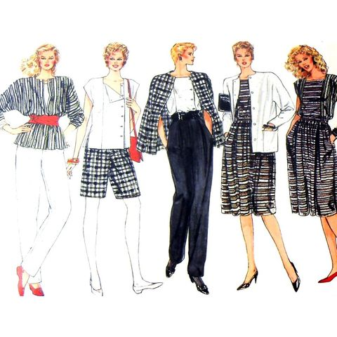 Wardrobe,Travel,Work,Casual.,1980s,Pattern.,Jacket,Dolman.,City,Shorts,sewinghappyplace, Sewing Pattern, Vintage