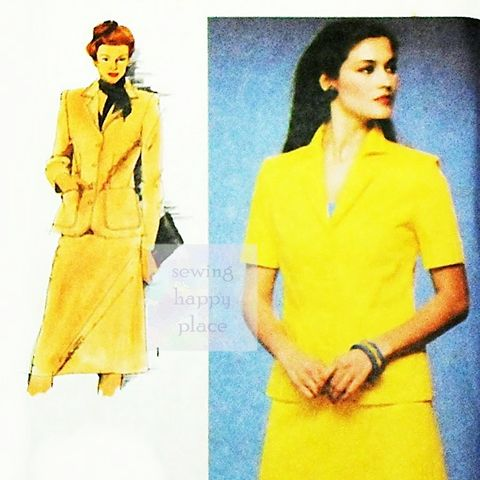 Unlined,Jacket,Aline,Skirt,1980s,Pattern.,Classic,Casual,Office,Wear.,sewinghappyplace, Sewing Pattern, Vintage