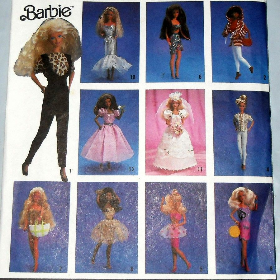Barbie Doll Sewing Pattern Simplicity 7046 sized for Barbie 11.5 in - product images  of