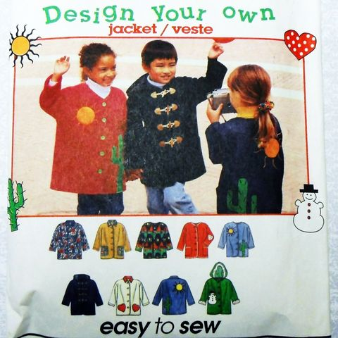 Childs,Toddler,Relax,Fit,Jacket.,Coat,Pattern,w,Hood.,Fleece.,Unisex,sewinghappyplace, Sewing Pattern, Vintage