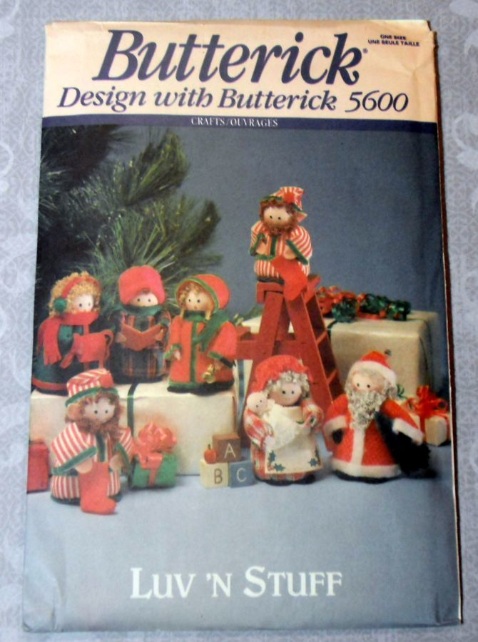 Santa Mrs Claus Elves Carolers Christmas Craft Pattern Brillo Beard - product images  of