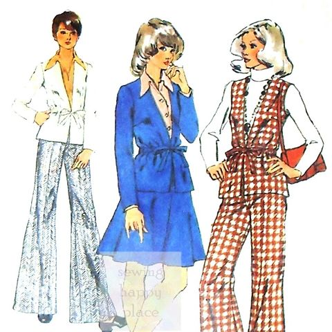Comfy,Travel,Separates,1970s,Pattern.,Weekender,Wardrobe.,sewinghappyplace, Sewing Pattern, Vintage