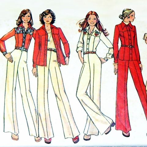 Western,Style,Separates,1970s,Pattern.,Shirt,Jacket,Pant.,Yoke,Detail.,sewinghappyplace, Sewing Pattern, Vintage