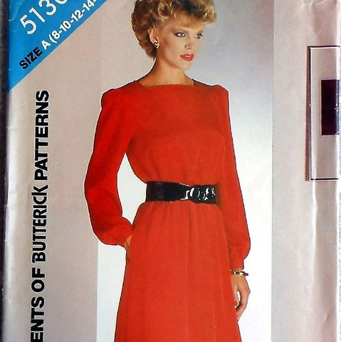 Relax,Fit,Dress/,1980s,Pattern/,Square,Neckline/,Casual,Dressy,Office,sewinghappyplace, Sewing Pattern, Vintage