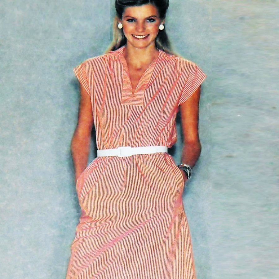 Cool Summer Dress/ 1980s Pattern/ Loose Fit Pullover/ multisz 12 14 16 - product images  of
