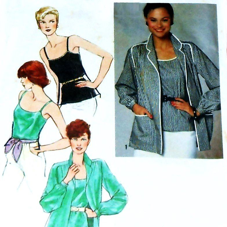 Elegant Basics/ Blouse Camisole/ 1970s Pattern - product images  of