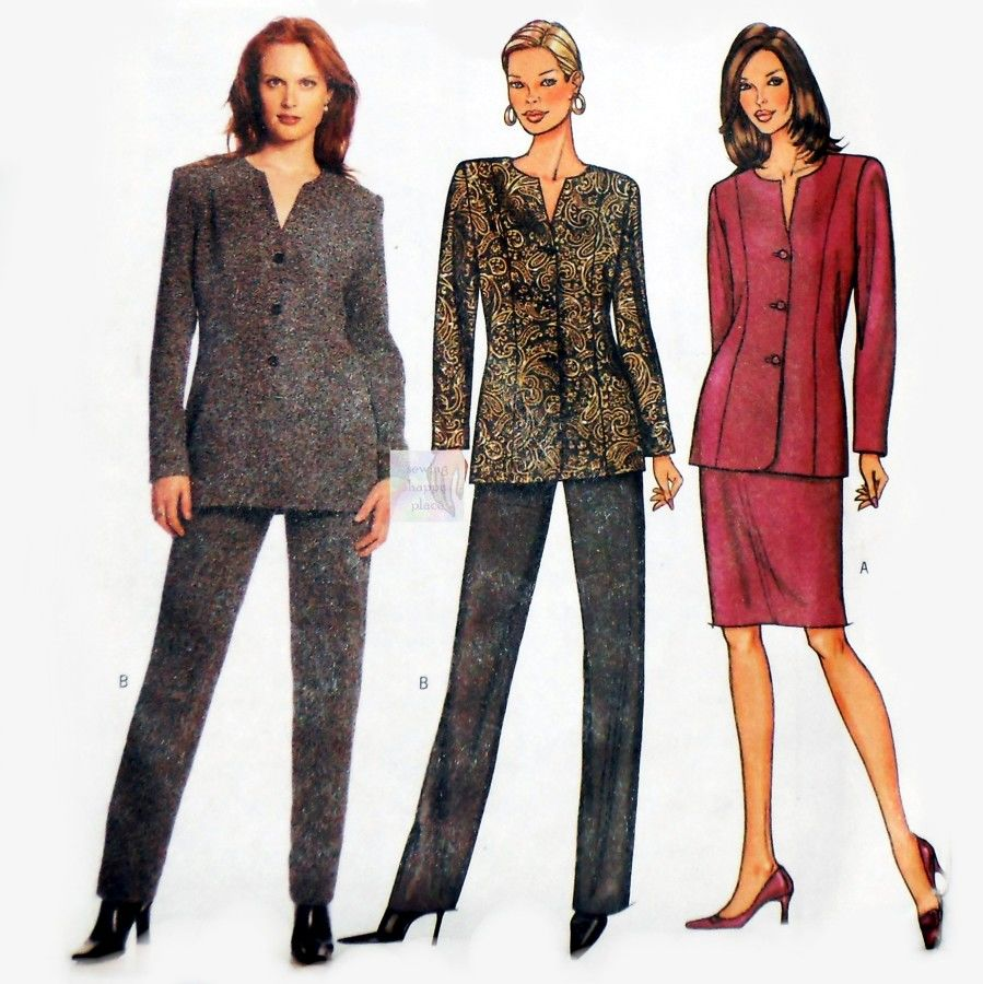 Misses Princess Line Jacket  Suit. Sewing Pattern. Hollywood Waist Pants, Slim Skirt. - product images  of