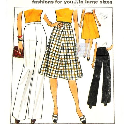 Classic,Separates,70s,Pattern.,Aline,Skirt,,Wide,Leg,Pants.,Plus,Size.,Simplicity,7899,sewinghappyplace, Sewing Pattern, Vintage