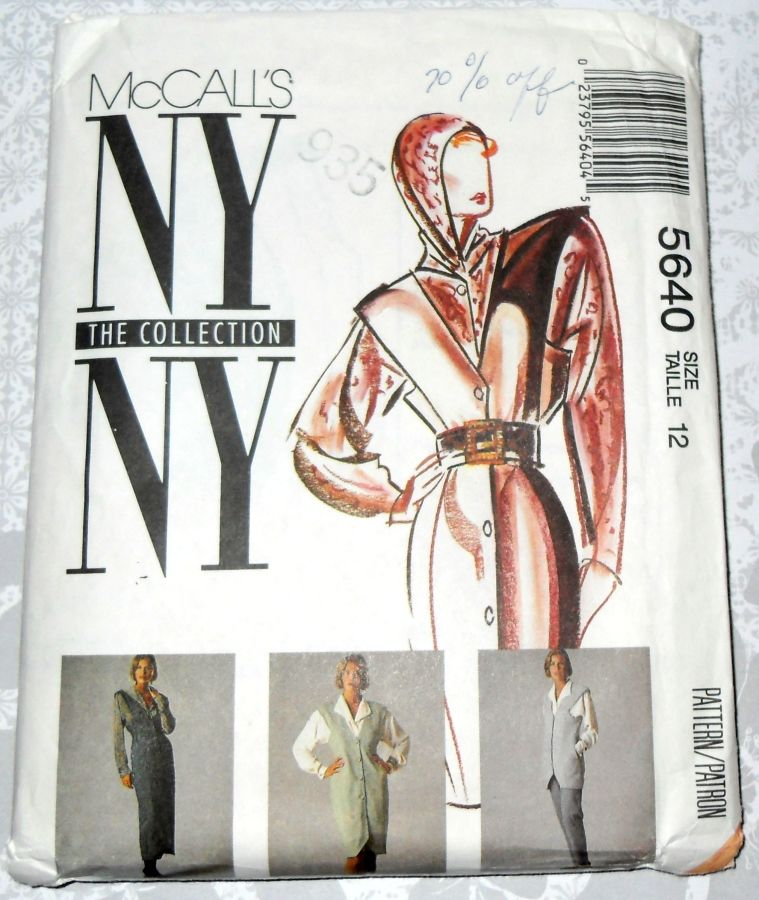 High Fashion Jumper Vest Pants 1990s Designer Pattern. NY NY Collection. Hoodie Blouse.  - product images  of