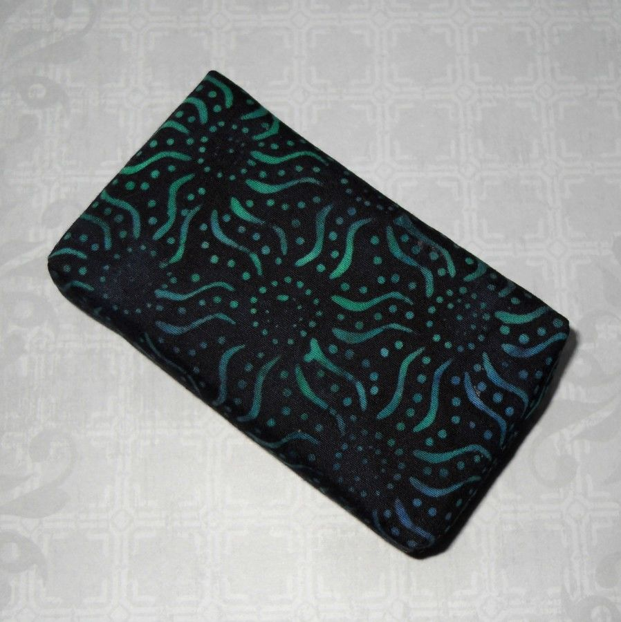 Dark Starz Boxy Pocket Purse Tissue Case. Ecofriendly. Travel Tissue Cozy. Fits Purse Pack. Teal Aqua Fabric. - product images  of