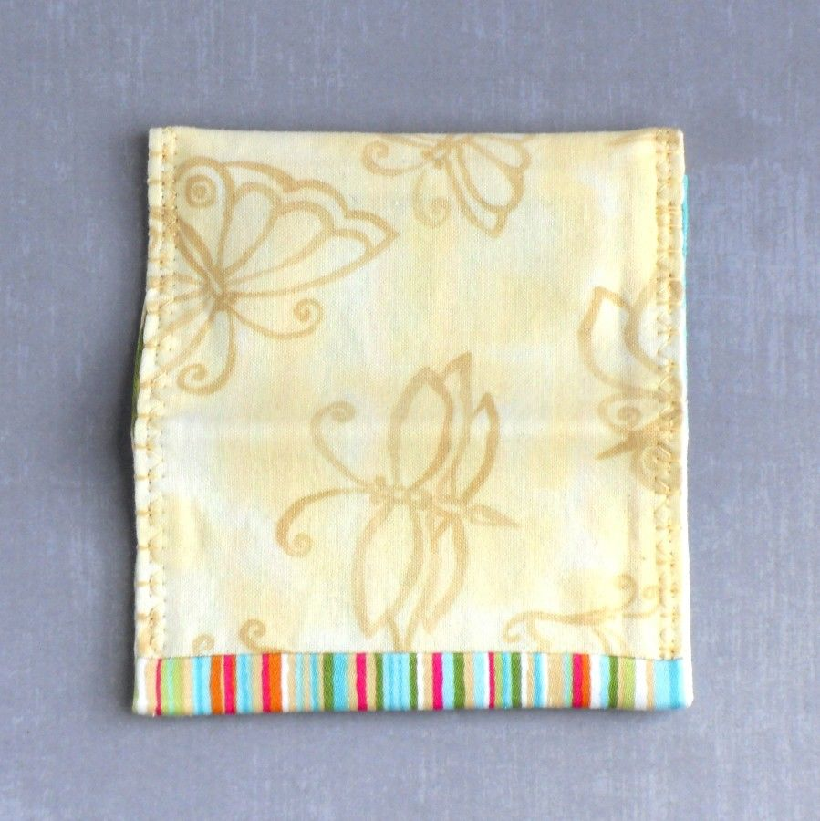 Spring Fling. Fabric Gift Card Wallet. Business Card Holder. Mini Wallet. Soft Yellow Butterflies. - product images  of