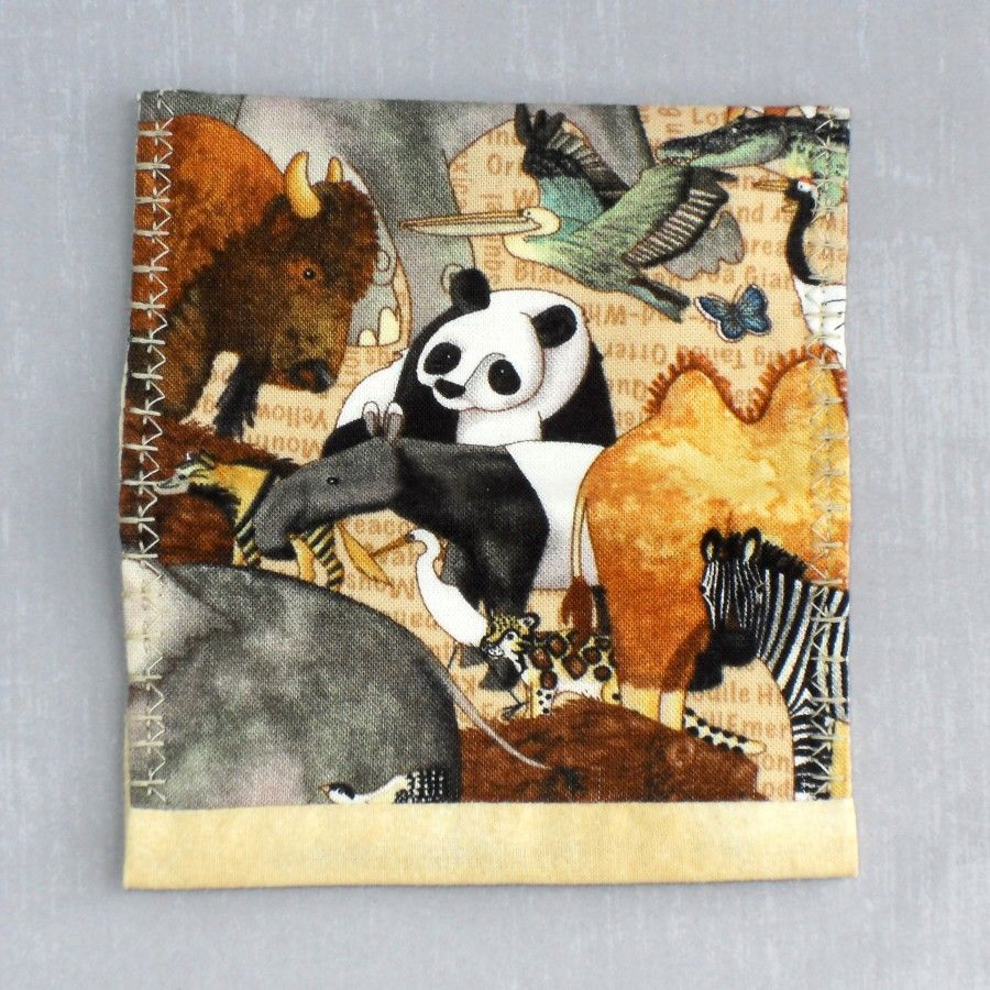 Animal Parade. Fabric Gift Card Wallet. Business Card Holder. Mini Wallet.  - product images  of