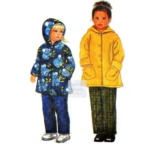 Child's,Toddler,Sewing,Pattern,-,Hoodie,Coat,,Pull,on,Pants.,Boy,Girl,Unisex.,Simplicity,8296.,vintage, sewing patterns, sewinghappyplace