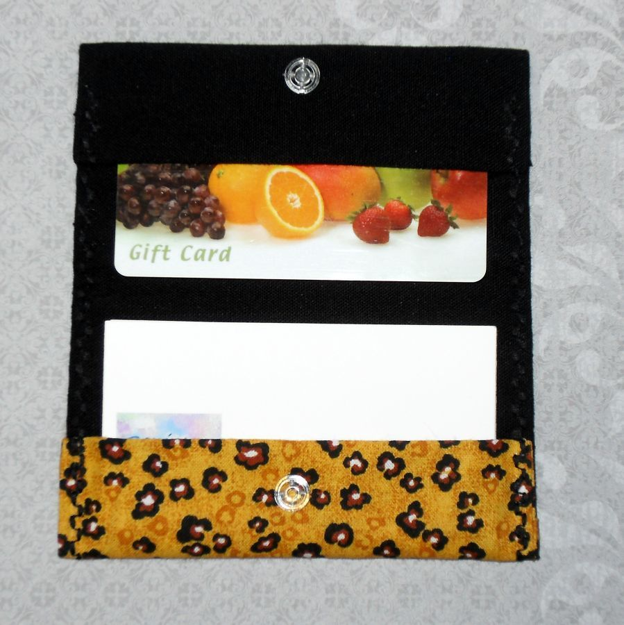 Spotty Leopard. Fabric Gift Card Wallet. Business Card Holder. Mini Wallet. - product images  of